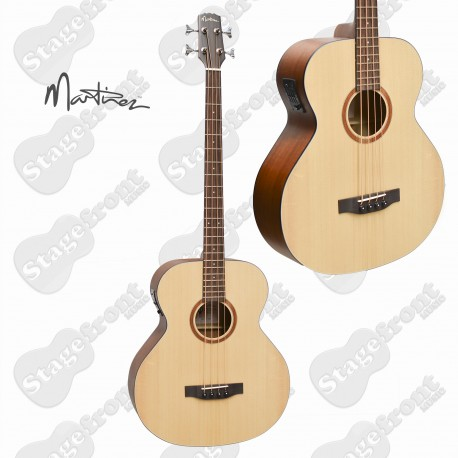 MARTINEZ MNB-15-SOP ACOUSTIC /ELECTRIC SPRUCE TOP BASS GUITAR