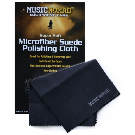 MUSIC NOMAD MICROFIBER SUEDE POLISHING & WAXING CLOTH. WILL NOT SCRATCH. MN201