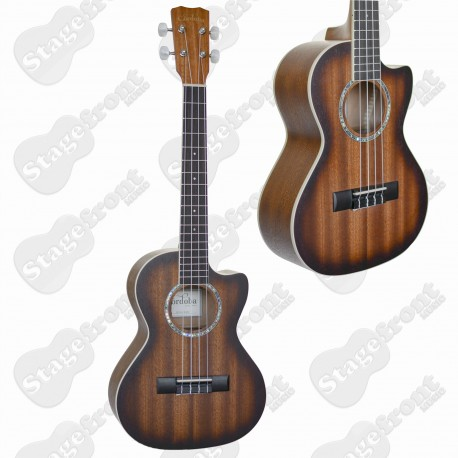 UKULELE CORDOBA TENOR CUTAWAY UKE ALL MAHOGANY WITH PICKUP