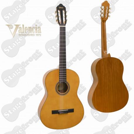 "VALENCIA VC204H – 4/4 FULL SIZE ""HYBRID"" CLASSICAL NYLON STRING GUITAR"