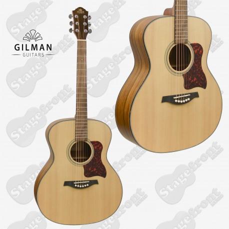GILMAN GRAND AUDITORIUM ACOUSTIC SPRUCE TOP GUITAR BLACK WALNUT BACK & SIDES GA10