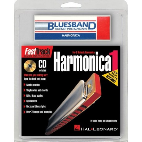 HOHNER BLUES BAND HARMONICA KEY C WITH BONUS BOOK & CD GREAT FOR BEGINNERS