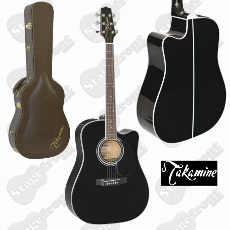 TAKAMINE EF341SC LEGACY SERIES ACOUSTIC /ELECTRIC GUITAR CUTAWAY IN BLACK GLOSS