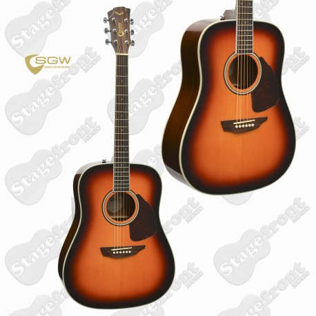 SAMICK GUITAR WORKS 300 SERIES DREADNOUGHT SOLID SITKA SPRUCE TOP - S300DVS
