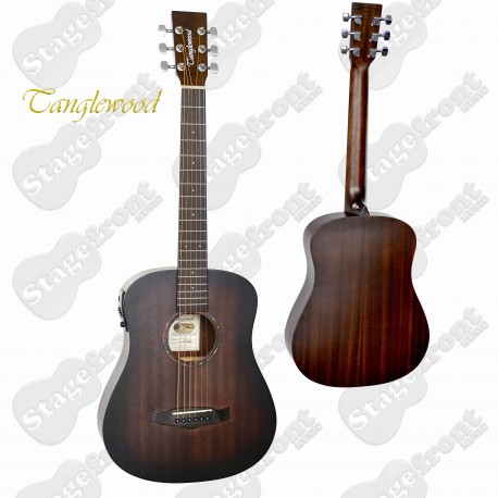 TANGLEWOOD TWCRTE CROSSROADS TRAVEL SMALL BODY GUITAR WITH PICKUP