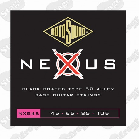 ROTOSOUND RNXB45 NEXUS BASS BLACK POLYMER COATED BASS STRINGS 45-105