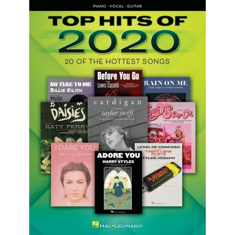 TOP HITS OF 2020 PVG SHEET MUSIC ALL THE POPULAR HIT SONGS PIANO VOCAL GUITAR