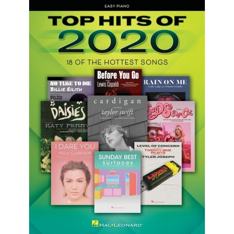 TOP HITS OF 2020 SHEET MUSIC ALL THE POPULAR HIT SONGS FOR EASY PIANO