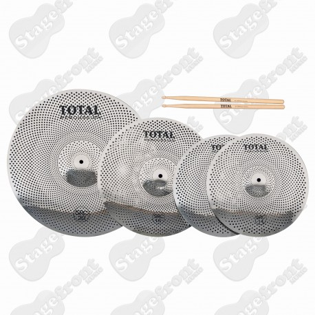 SOUND REDUCTION CYMBAL PACK SRC50 PERFECT FOR PRACTICE AND ACOUSTIC GIGS