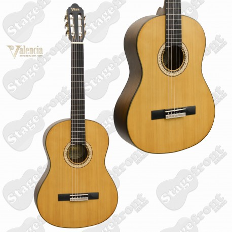 VALENCIA VC404 FULL SIZE CLASSICAL GUITAR. SITKA SPRUCE TOP. FREE ONLINE LESSONS