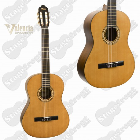 VALENCIA VC204 - BEGINNER 4/4 FULL SIZE CLASSICAL NYLON STRING GUITAR.