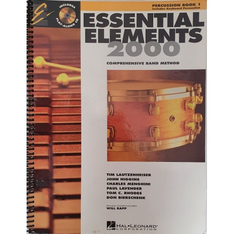 ESSENTIAL ELEMENTS 2000 COMPREHENSIVE BAND METHOD PERCUSSION BOOK 1 & CD