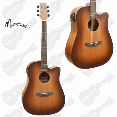 MARTINEZ SOUTHERN STAR MAHOGANY SOLID TOP ACOUSTIC-ELECTRIC GUITAR MPC-6C-NST