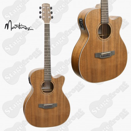 MARTINEZ  MAHOGANY TOP ACOUSTIC-ELECTRIC SMALL BODY GUITAR MNFC-15-MOP