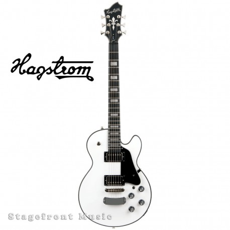 HAGSTROM HSSUSWEWHT SUPER SWEDE ELECTRIC GUITAR IN WHITE GLOSS