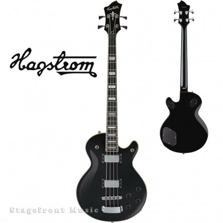 HAGSTROM HSSWEBBLK SWEDE ELECTRIC BASS GUITAR IN BLACK GLOSS