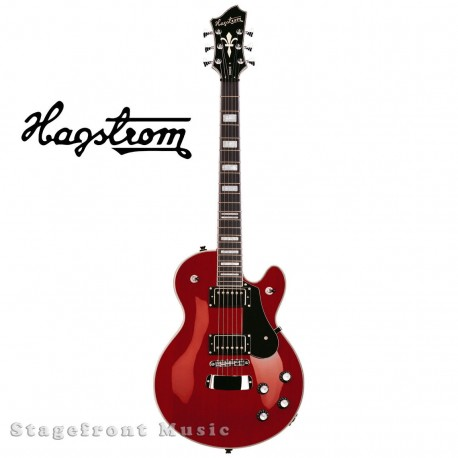 HAGSTROM HSSWEWCT SWEDE ELECTRIC GUITAR IN WILD CHERRY GLOSS FINISH