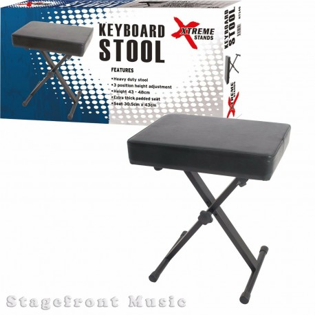 KEYBOARD PIANO STOOL. PROFESSIONAL HEAVY DUTY SEAT. 3 HEIGHTS - KT146