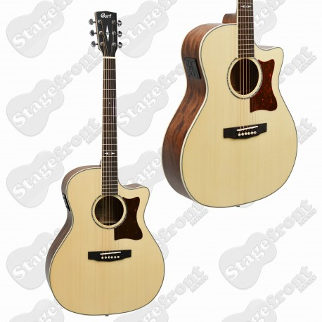 CORT GA10F GRAND AUDITORIUM GUITAR SOLID EUROPEAN SPRUCE TOP SOLID MAHOGANY BACK