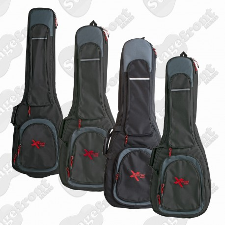 XTREME DELUXE GUITAR GIG BAG EXTRA HEAVY DUTY BLACK WATERPROOF NYLON BAG