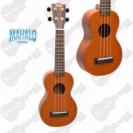MAHALO MJ1TBR SOPRANO UKULELE JAVA SERIES BROWN WITH AQUILA STRINGS AND CARRY BAG