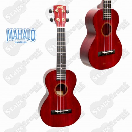 MAHALO HANO SERIES CONCERT UKULELE MH2TWR WITH CARRY BAG TRANSPARENT WINE RED