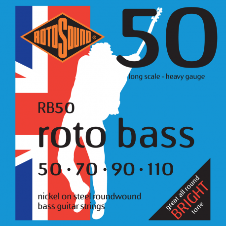 ROTOSOUND BASS GUITAR STRINGS RB50 ROTOBASS STANDARD 50-110