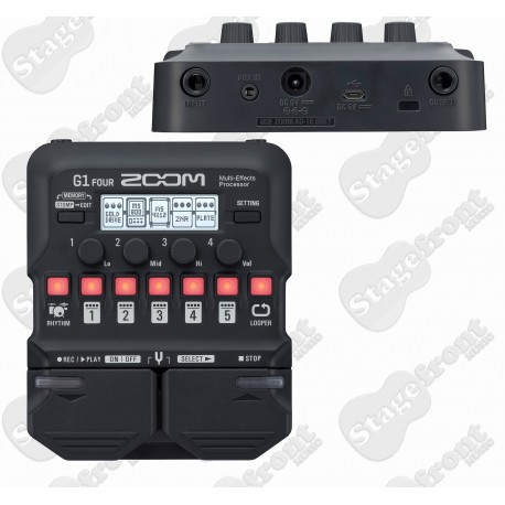 ZOOM G1 FOUR MULTI-EFFECTS PROCESSOR WITH LOOPER, 60+ EFFECTS, 13 AMP MODELS, 68 DRUM PATTERNS