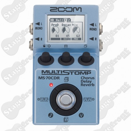 ZOOM MS-70CDR MULTISTOMP GUITAR EFFECTS PEDAL CHORUS DELAY REVERB