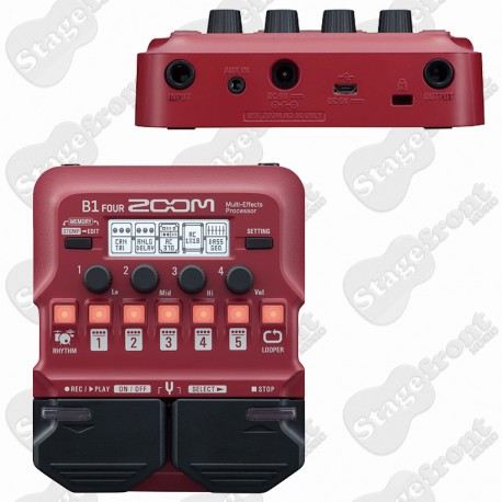 ZOOM B1 FOUR BASS MULTI EFFECTS PROCESSOR PEDAL