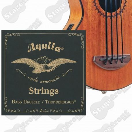 AQUILA THUNDERBLACK BASS UKULELE STRINGS EADG TUNING AQUILA 140U