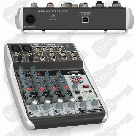 BEHRINGER XENYX 802 EIGHT INPUT MIXER PREMIUM QUALITY SOUND