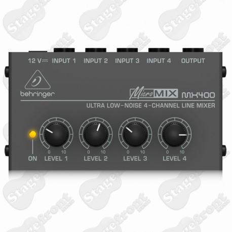 BEHRINGER MICROMIX LOW NOISE 4 CHANNEL LINE MIXER MX400
