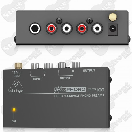 BEHRINGER MICROPHONO PP400 PHONO PREAMP SIGNAL BOOSTER