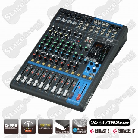 YAMAHA MG12XU 12-CHANNEL Mixing Console WITH CUBASE SOFTWARE