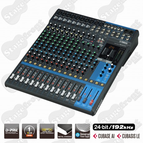 YAMAHA MG16XU 16 CHANNEL Mixing Console WITH EFFECTS & CUBASE SOFTWARE