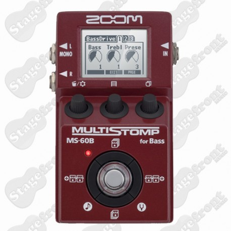 ZOOM MS60B BASS STOMPBOX AND MULTI EFFECTS PROCESSOR PEDAL