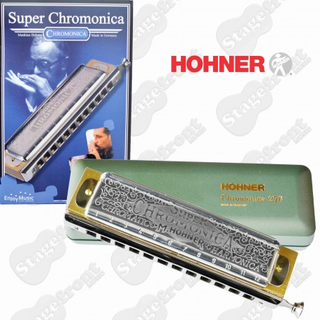 HOHNER SUPER CHROMONICA 270CX 12 HOLE HARMONICA