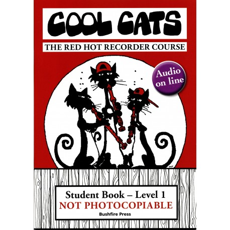 COOL CATS RECORDER LEVEL 1 STUDENT BOOK & CD THE RED HOT RECORDER COURSE