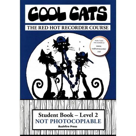 COOL CATS RECORDER LEVEL 2 STUDENT BOOK THE RED HOT RECORDER COURSE WITH ONLINE AUDIO
