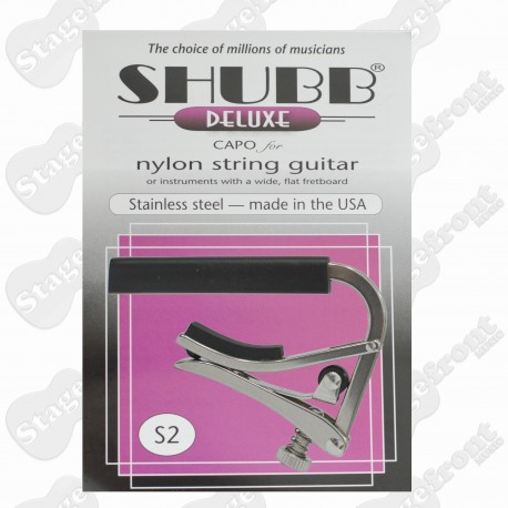 SHUBB S2 STAINLESS STEEL CAPO FOR NYLON STRING GUITARS
