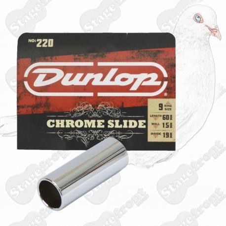 JIM DUNLOP J220 USA MADE CHROME GUITAR SLIDE. SUITABLE FOR ELECTRIC GUITAR