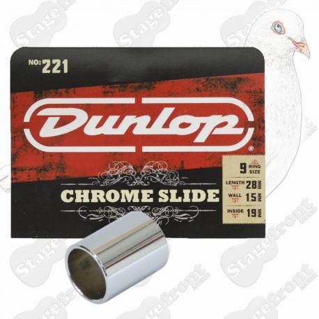 JIM DUNLOP J221 CHROMED STEEL SHORT Guitar Slide