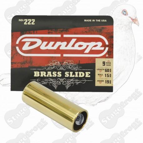 JIM DUNLOP J222 BRASS GUITAR SLIDE. SUITABLE FOR ACOUSTIC GUITARS