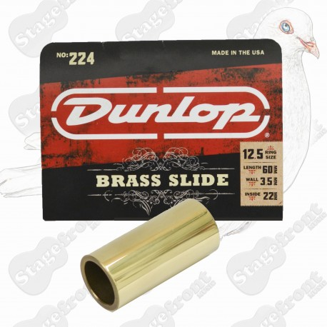 JIM DUNLOP J224 BRASS GUITAR SLIDE. HEAVY WALL
