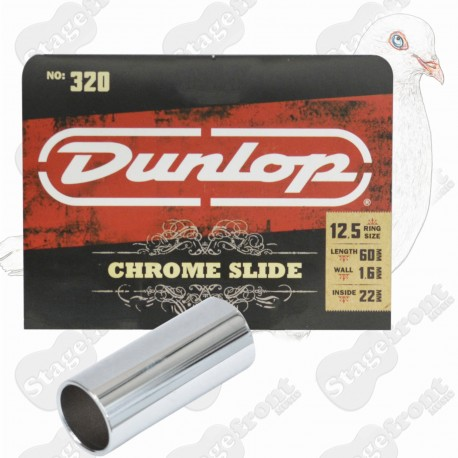 JIM DUNLOP J320 USA MADE CHROME GUITAR SLIDE EXTRA LARGE FITTING