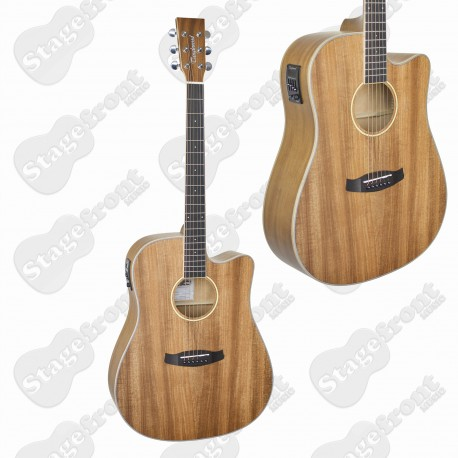 TANGLEWOOD TWUDCE DREADNOUGHT UNION SOLID TOP ACOUSTIC /ELECTRIC GUITAR