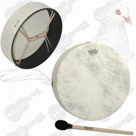 REMO 12 inch BUFFALO DRUM  WITH A PRETUNED FIBERSKYN HEAD