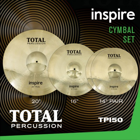 INSPIRE BRASS CYMBALS FROM TOTAL PERCUSSION INSPIRE BOX SET 14,16,20 inch TPI50