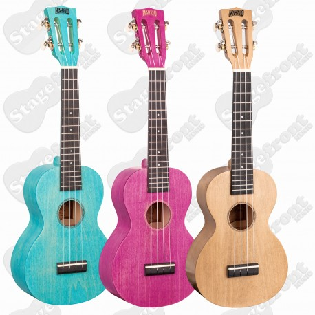 MAHALO ISLAND SERIES CONCERT UKULELES WITH SEE THROUGH COLOURS – Select your colour